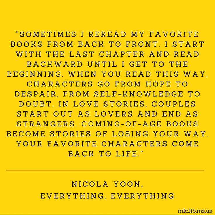 Today's #quote is from Nicola Yoon's young adult novel Everything, Everything.  Learn more about Nicola Yoon here: http://www.nicolayoon.com/bio/ #reread #books