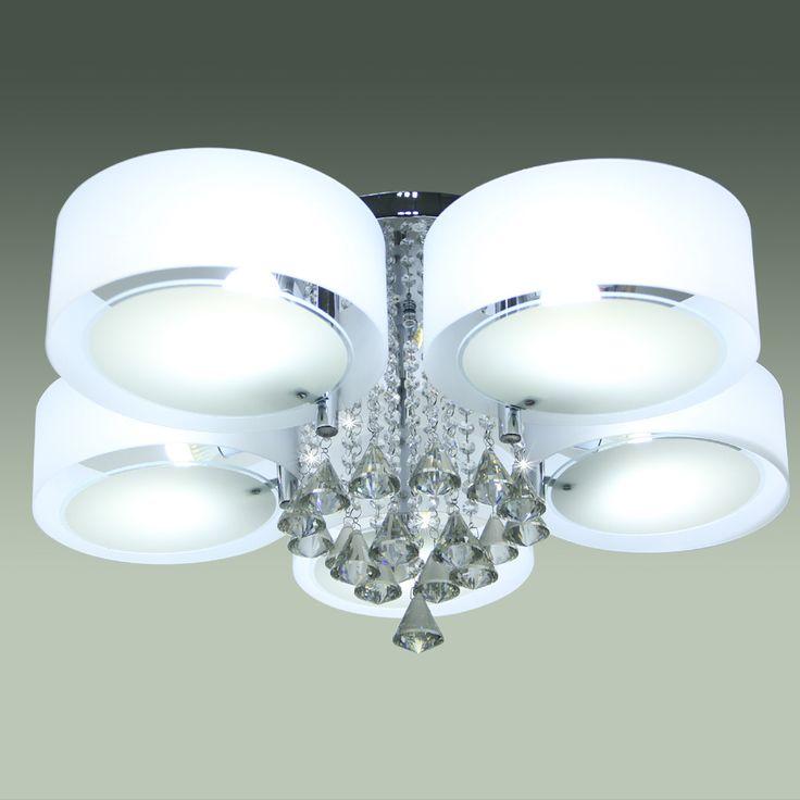 LED E27 Kristall Deckenlampe Hängeleuchte Kronleuchter Fernbedienung Lüster  - Yorbay.de