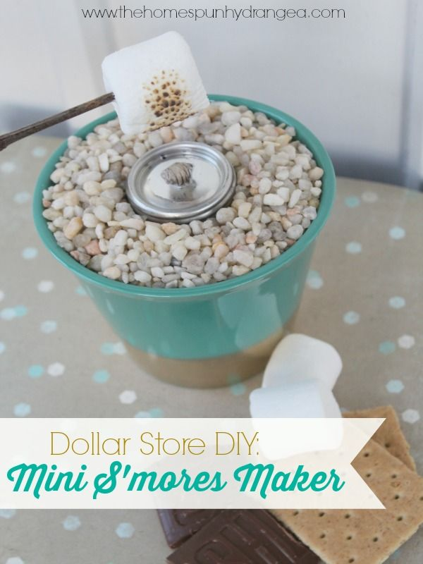 For just $3 you can make this indoor s'mores grill, perfect for cooking s'mores right at the table!