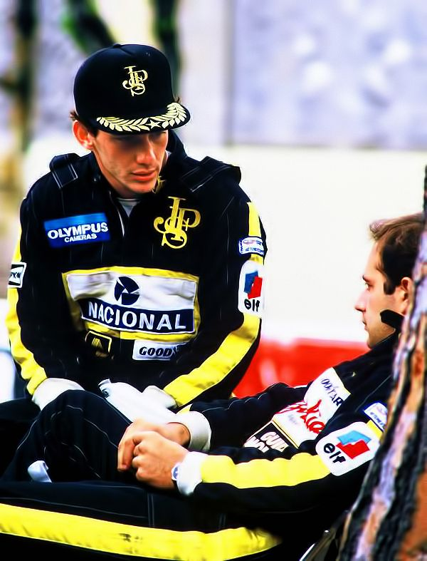 scuderia-f1: Ayrton Senna & Elio de Angelis