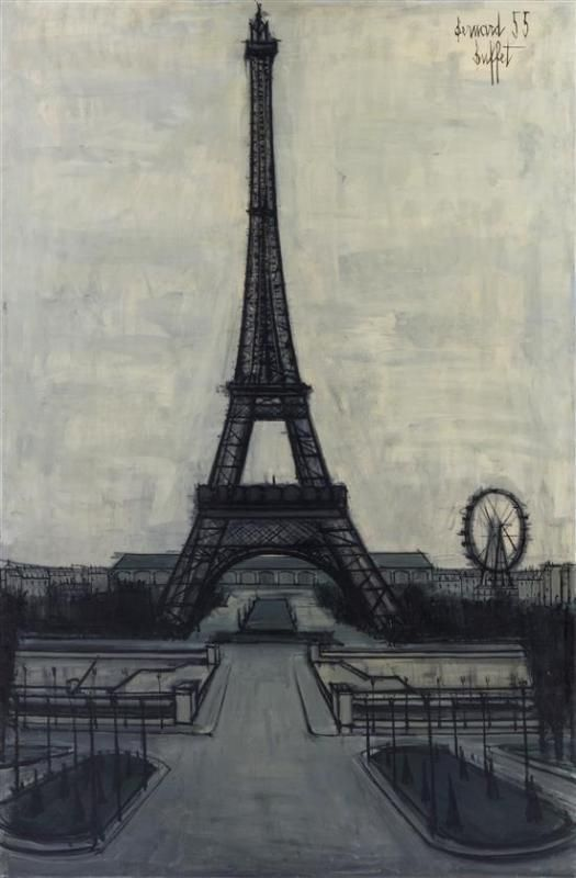la tour eiffel 1955 bernard buffet 1928 1999 tour eiffel pinterest. Black Bedroom Furniture Sets. Home Design Ideas