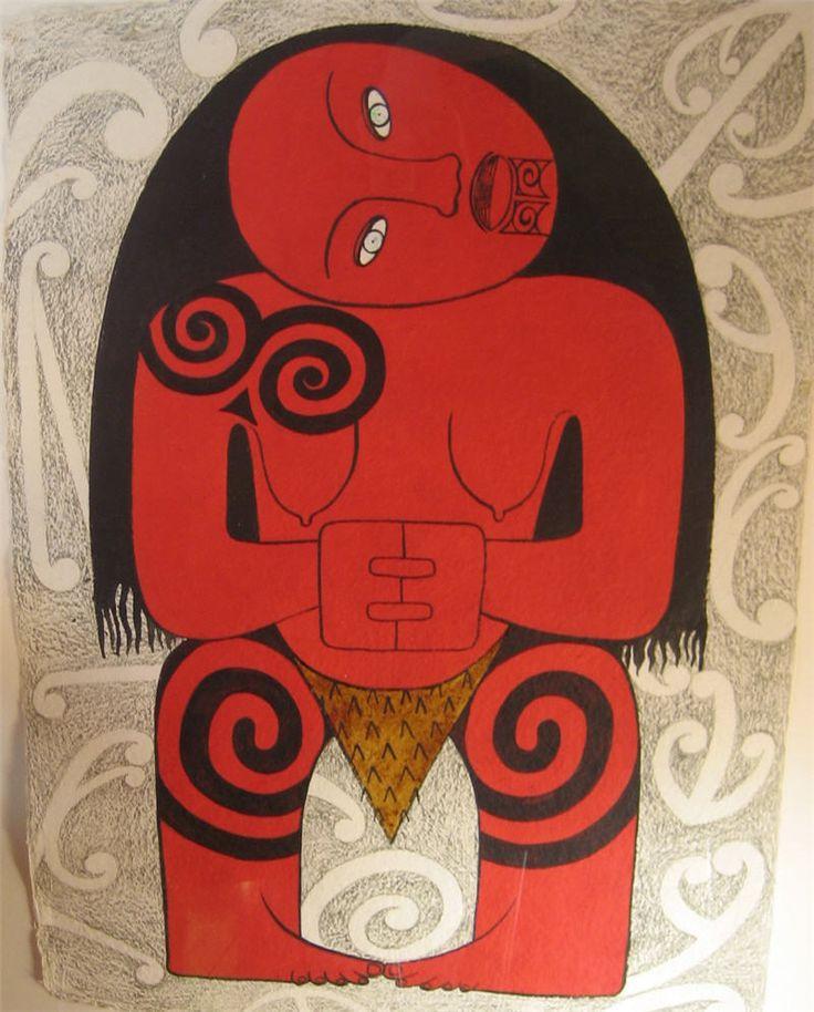Whero Wahine (Red Woman)  robyn kahukiwa