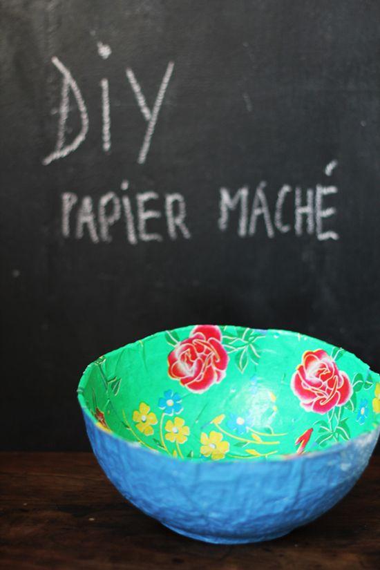 corbeille papier mâché #DIY
