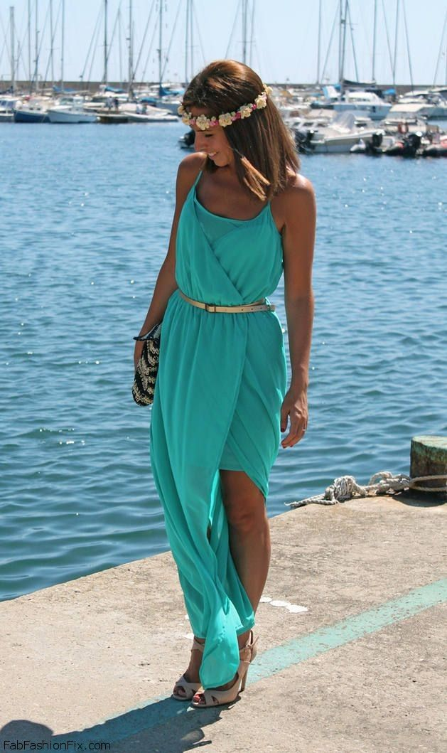 Summer maxi dress. Outfit of the Day: 6 September 2013.