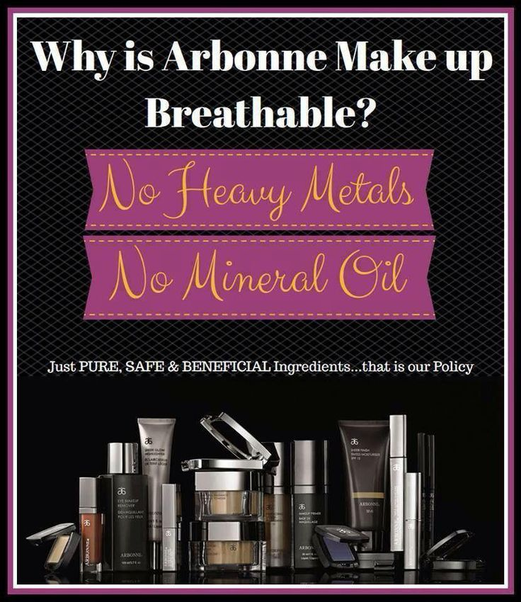 Arbonne's Makeup - no chemicals, lead, toxin free and organic