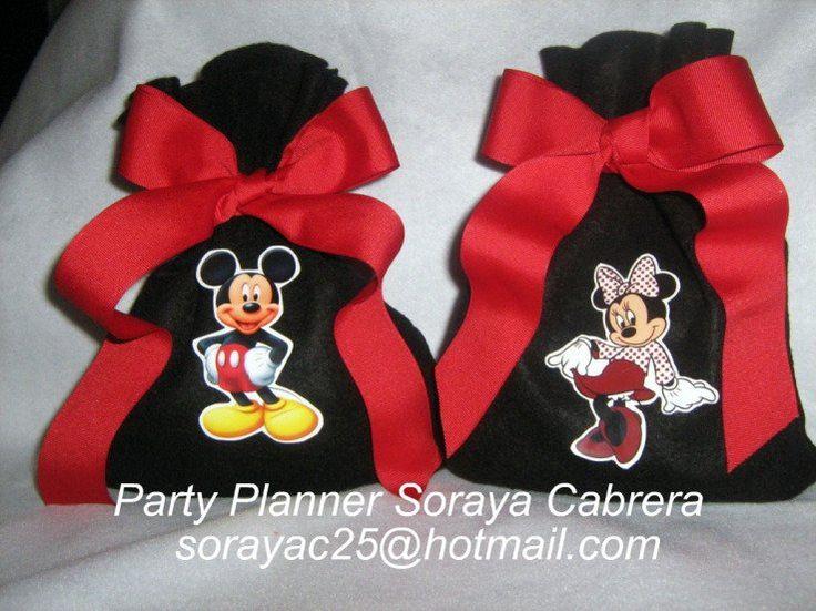 bolsitas de dulces de mickey mouse - Buscar con Google | fiesta de ...