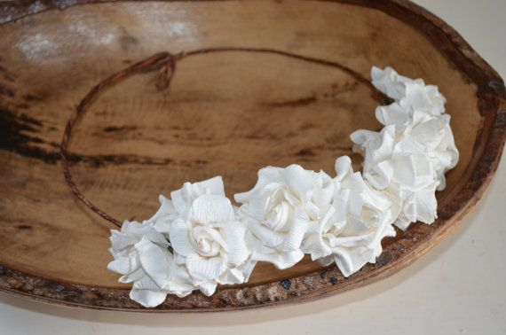 White Mulberry Paper Flower by lovespuncreationsJL on Etsy