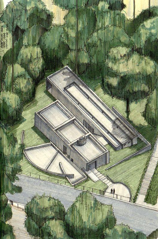 Galeria de Clssicos da Arquitetura icnicos representados em perspectivas axonomtricas  18
