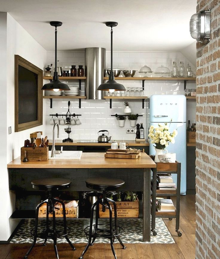 Clever Ideas For Small Kitchen Decoration Industrial Kitchen Design Kitchen Design Small Industrial Decor Kitchen