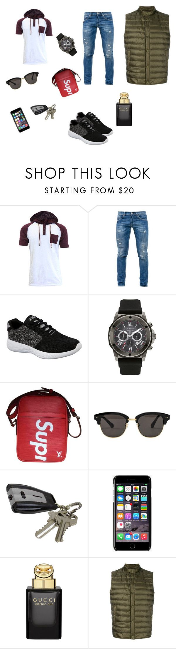 """""""Untitled #22"""" by poljicbenjamin ❤ liked on Polyvore featuring Dondup, Skechers, Bulova, Supreme, Gentle Monster, Dolce&Gabbana, Gucci, Herno, men's fashion and menswear"""