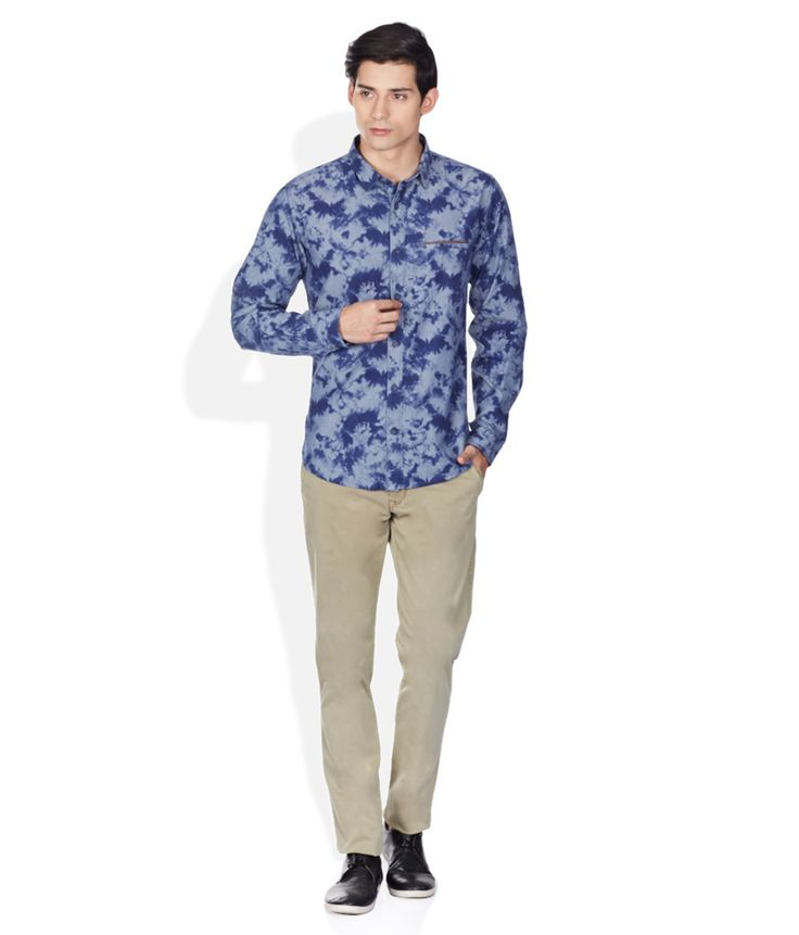 United Colors Of Benetton Blue Regular Fit shirt