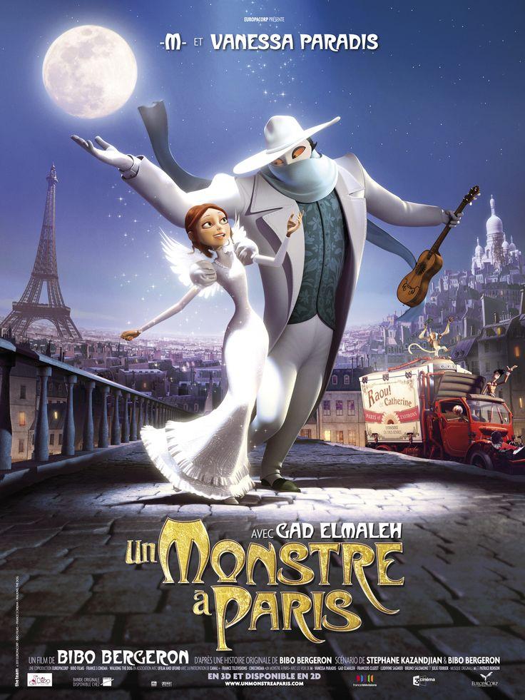 Un monstre à Paris - Joli film d'animation - Musique de Mathieu Chédid chantée par Vanessa Paradis
