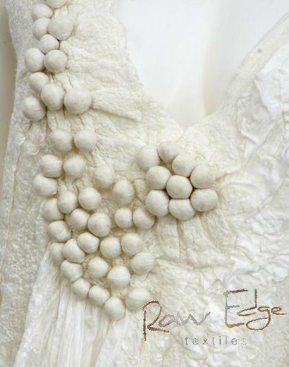 Silk and wool nuno-felt top by Raw Edge Textiles