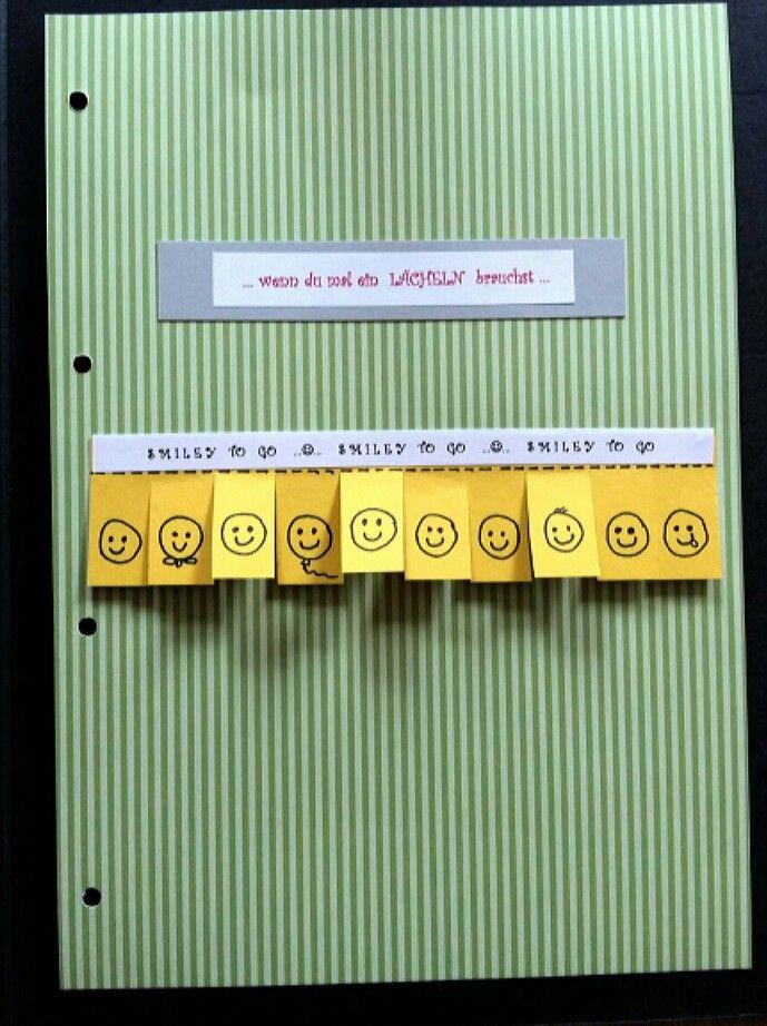 DIY - Wenn-Buch ... Wenn du mal ein Lächeln brauchst