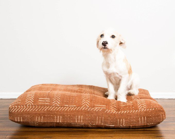 Rust Mudcloth Dog Bed Extra Large Made To Order
