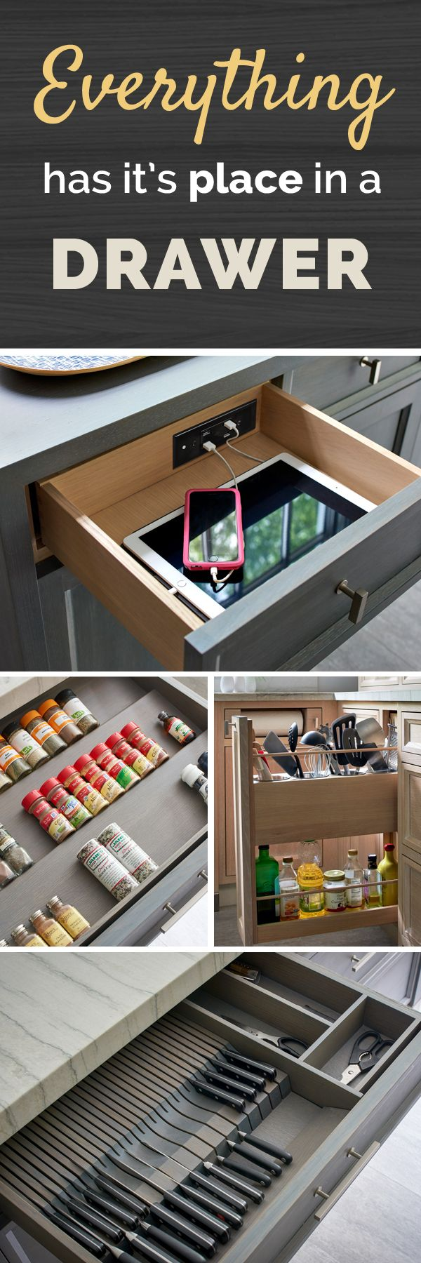 From hidden charging stations to bathroom styling stations, see how others are using in-drawer outlets to stay organized in any space!