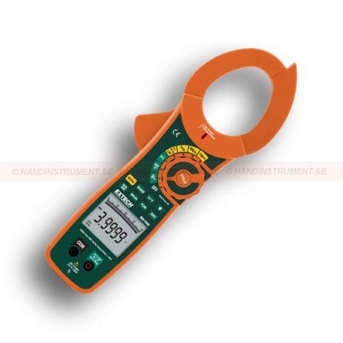 """http://handinstrument.se/stromtang-r1041/vaxelstrom-likstrom-trms-stromtang-med-ncv-detektor-med-sparbart-kalibreringscertifikat-53-MA1500-NIST-r1160  Växelström / likström TRMS strömtång med NCV Detektor, med spårbart kalibreringscertifikat  Sann RMS för noggranna avläsningar av icke-sinusformade vågformer  Inbyggd beröringsfri spänningsprovare med LED varning  2,0 """"(52mm) tångvidd för ledare upp till 500MCM  Dual 40000 / 4000 punkters, bakgrundsbelyst LCD-display  Inkluderar..."""