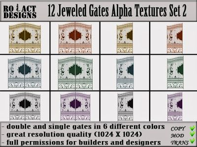 Ro!Act Designs 12 Jeweled Gates Alpha Textures Set 2