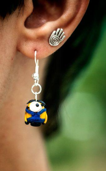 Minion earings