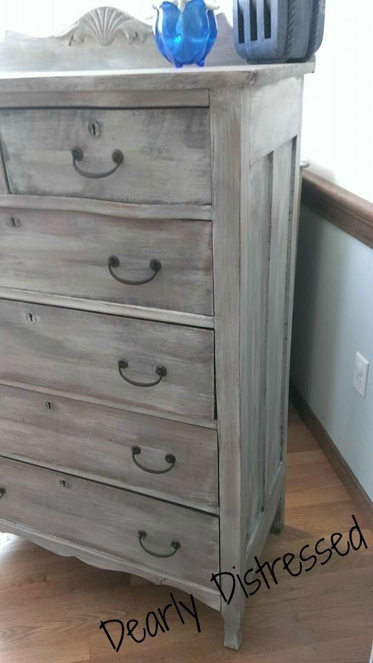 Oak Antique Chest of drawers bureau dresser Heirloom Traditions Paint A la Mode…