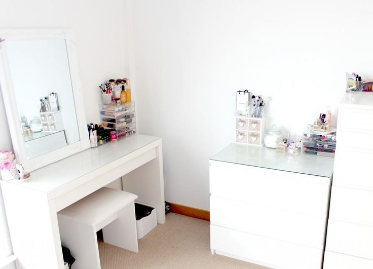 My Dressing Table And Makeup Storage, IKEA Malm Dressing Table, Muji  Acrylic Drawers, Makeup And Beauty Storage Ideas, Makeup Storage Inspiration