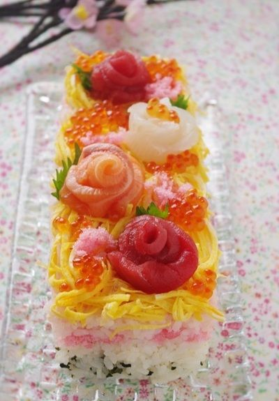 牛乳パックで作る!ひな祭りのちらし寿司ケーキ by 高羽ゆき ...