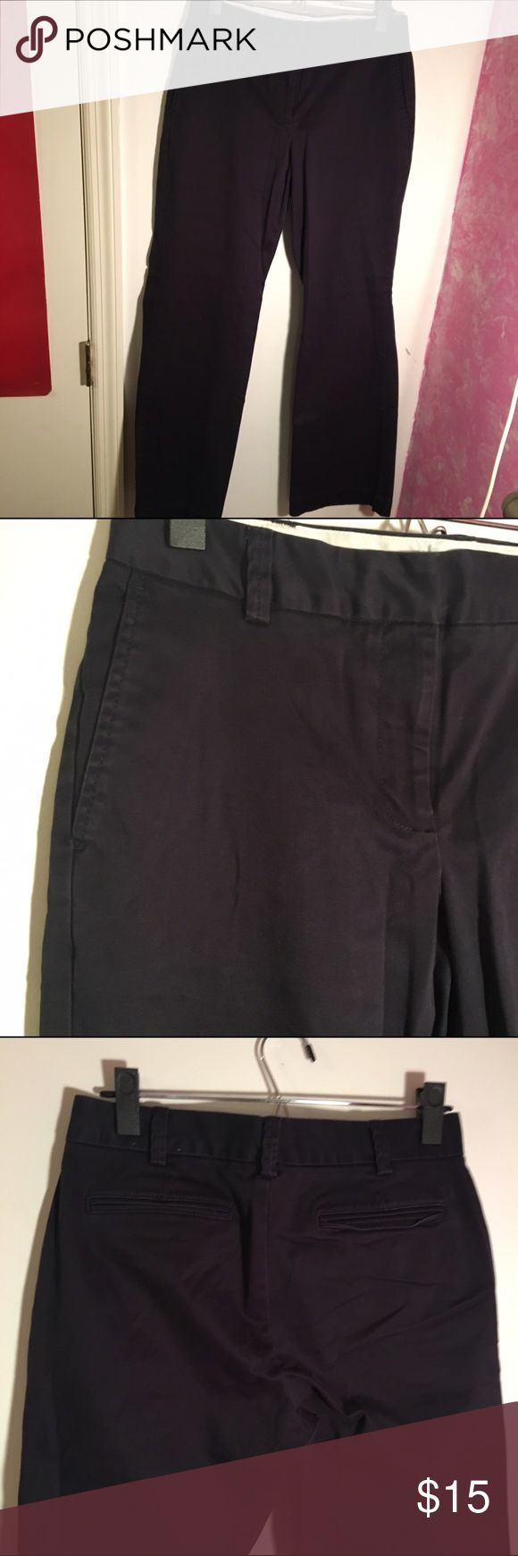 Lands' End Navy Blue Pants Very good quality navy blue pants. Back pockets are for decoration only and are not functional. 98% cotton, 2% spandex. Fit 2 - Size 4. Lands' End Pants Trousers