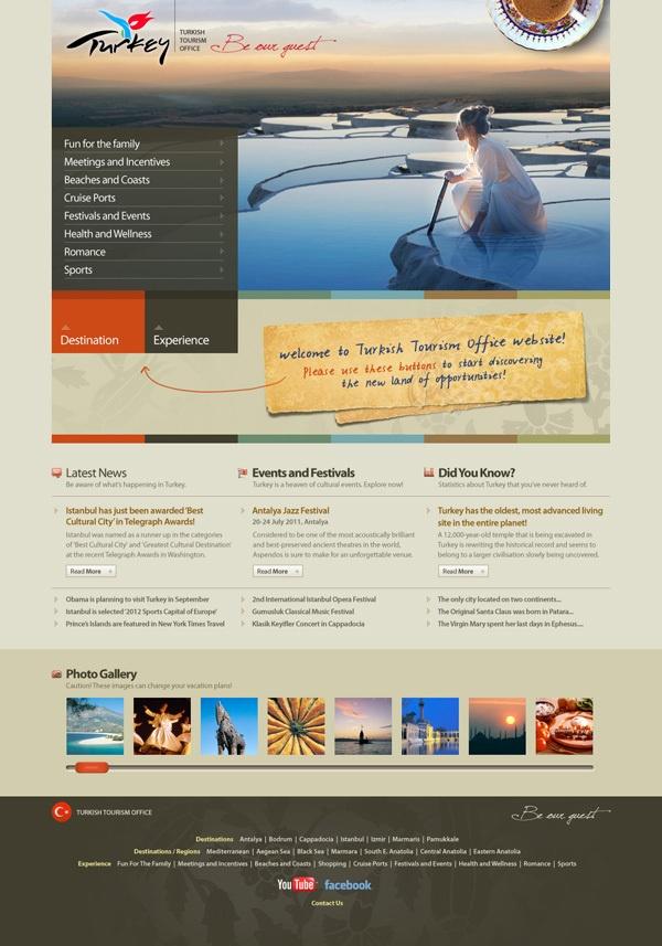 Tourism Turkey Web Site by Ozan Karakoç, via Behance