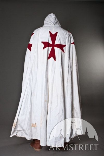 Knight Crusader Templar Medieval Cotton Cloak by armstreet on Etsy, $136.00