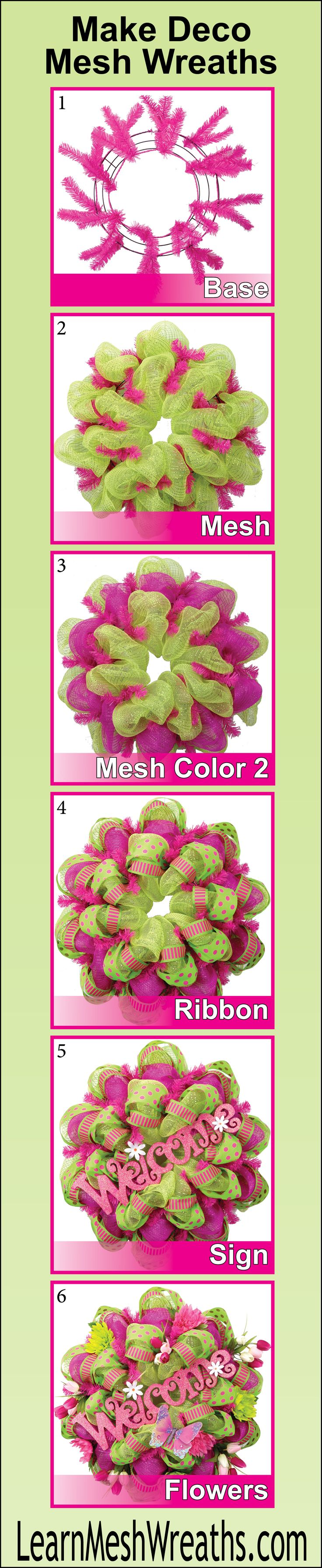 Join the DIY deco mesh wreath CRAZE! Learn step-by-step how to make beautiful mesh wreaths to give as gifts or sell online. Learn to make a perfect base, add mesh, ribbon, signs, ornaments and silk flowers. Plus bonuses on where to purchase supplies, how to ship wreaths, how to make garlands, and different styles of mesh wreaths. Click the picture to learn more. #decomesh #wreaths #DIY