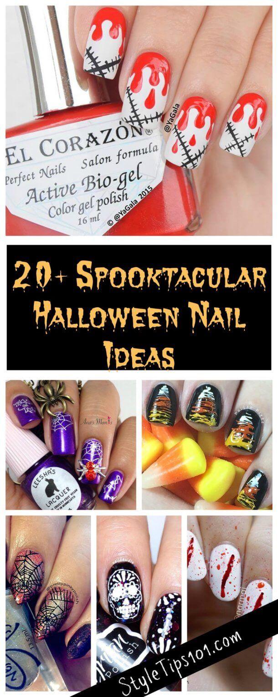 20 Halloween Nail Ideas Nail Art Pinterest Nail Care Nail