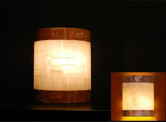 Lighting Behind Onyx Marbles : Images about onyx stone lamp alabaster on pinterest
