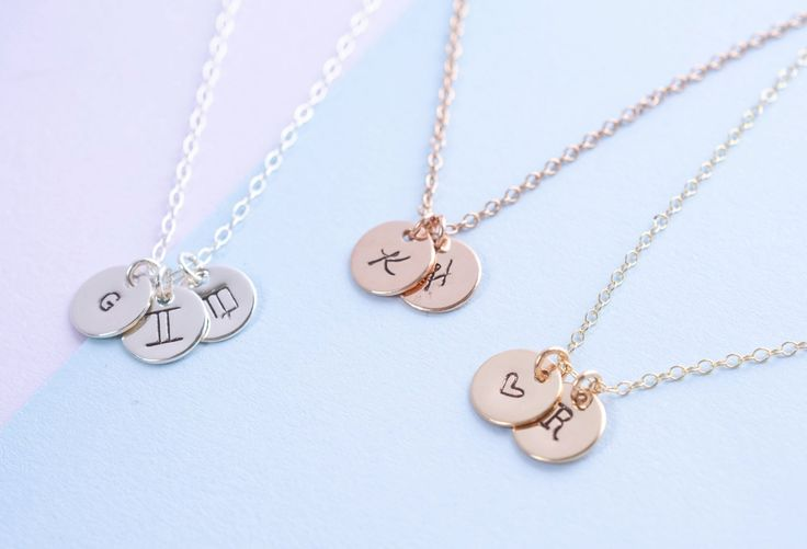 top 25  best sterling silver initial necklace ideas on