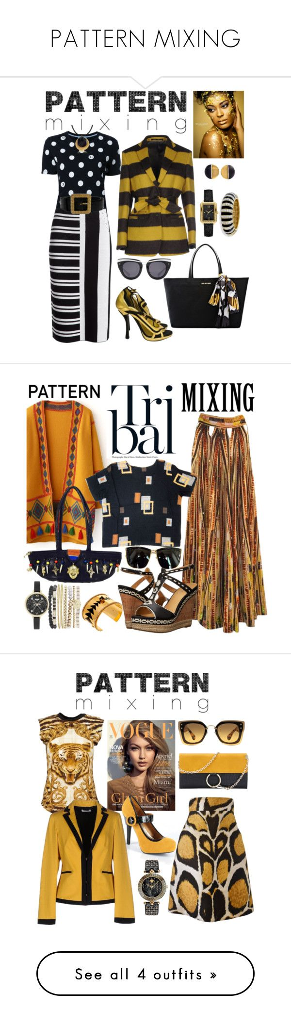 """""""PATTERN MIXING"""" by carolsha ❤ liked on Polyvore featuring Guild Prime, Theory, Mauro Grifoni, Chanel, Stefano Patriarchi, Prada, Love Moschino, HOOK LDN, Kenneth Jay Lane and Maria Francesca Pepe"""