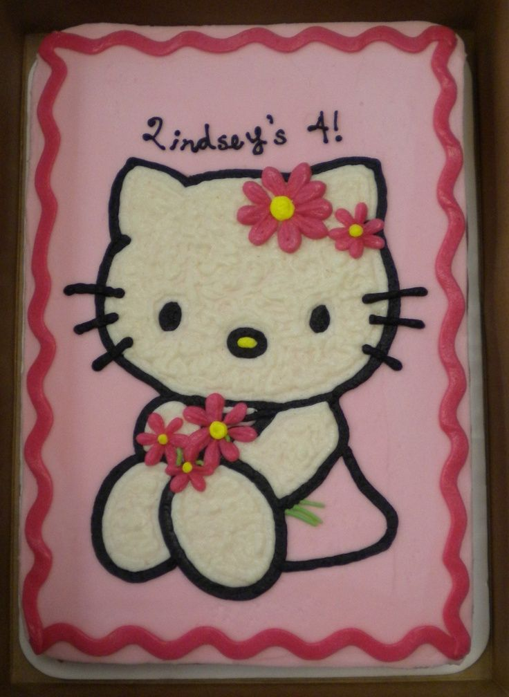Birthday Sheet Cake Designs   hello kitty sheet cake   Birthday Party Ideas