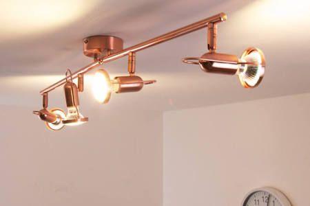 Globo Lights 115916 Globo Anne LED Ceiling Spotlight Copper, 4-bulbs