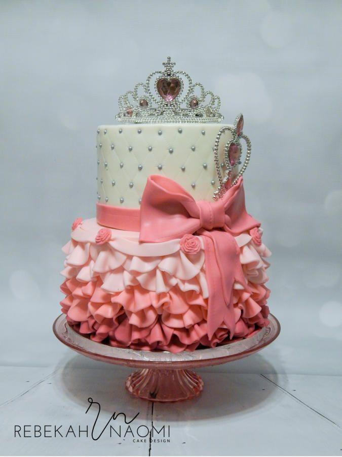 Pink Princess Birthday Cake - Cake by Rebekah Naomi Cake Design