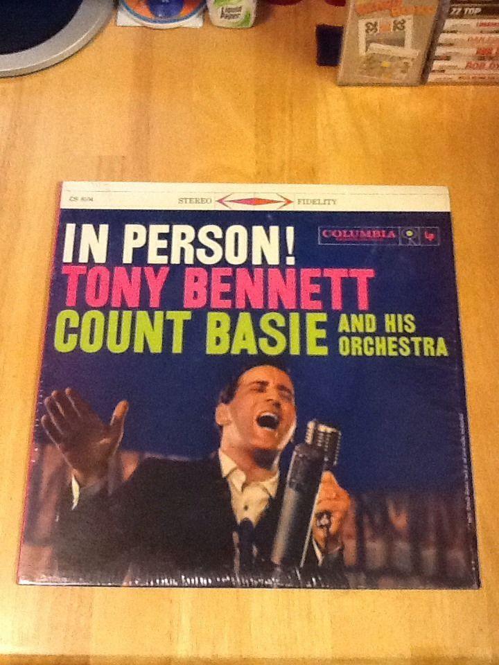 Tony Bennett/In Person Tonny Bennett And Count Basie Vinyl Lp In Shrink Wrap  | eBay http://www.ebay.com/itm/Tony-Bennett-In-Person-Tonny-Bennett-And-Count-Basie-Vinyl-Lp-In-Shrink-Wrap-/332288063657