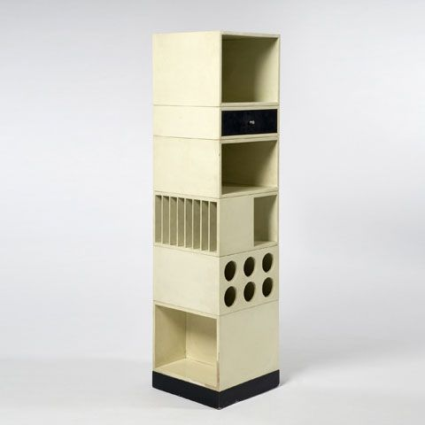 Anonymous; Lacquered Wood Modular Storage Unit, 1960s.