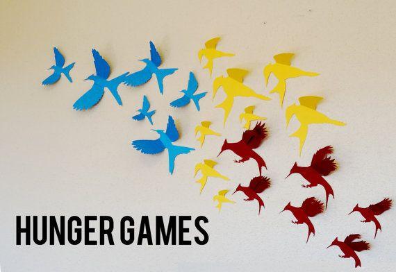 20 Hunger Games Mockingjay Bird 3D Wall Art and Decor by LeeShay