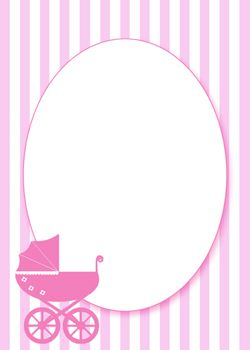 Free Printable Pink Baby Shower Invitation