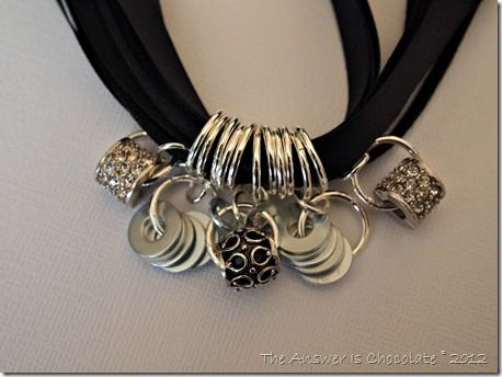 Ribbon Rings Necklace: Rings Necklaces I, Bracelets Jewelry, Collars Necklaces, Beads, Collares Necklaces, Jumping Rings, Black Ribbons, Ribbons Rings, Flats Washer