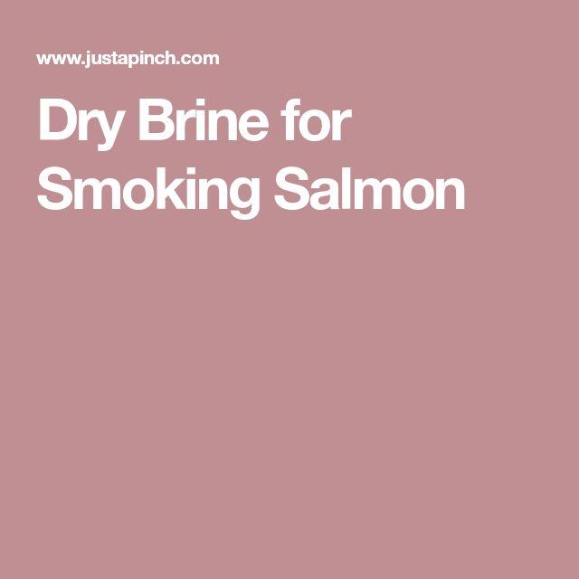Dry Brine for Smoking Salmon