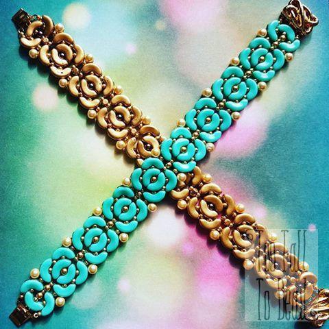 Biba Bracelet Tutorial by TooTallToBead on Etsy