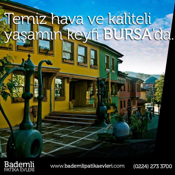 Temiz hava ve kaliteli yaşamın keyfi Bursa'da.   #bademli #bursa #temiz #kalite #yaşam #patika #evleri #villa #yatırım #doğa   Bademli Mah. Eski Mudanya Cad. No:175 Mudanya / BURSA www.bademlipatikaevleri.com // (0224) 273 3700