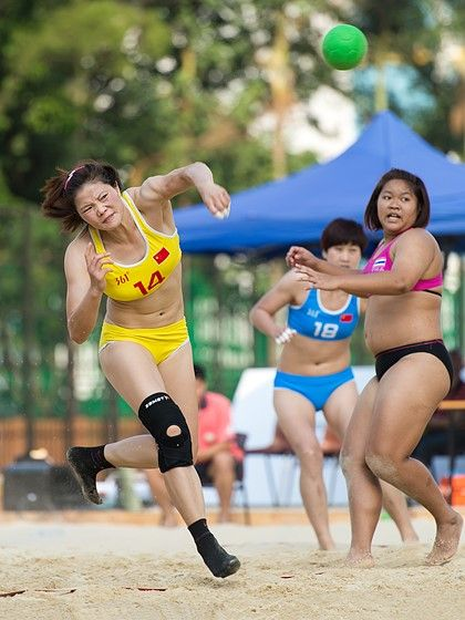 asian women s beach handball china 2 0 thailand sport and action