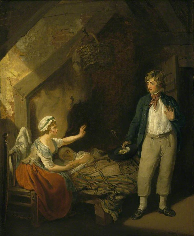 """The Sailor's Return"", Francis Wheatley, 1786; National Maritime Museum BHC1076"