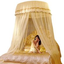 Luxury Romantic Hung Dome Mosquito Net Princess Students Insect Bed Canopy Netting Lace Round Mosquito Nets Curtain for Bedding(China)