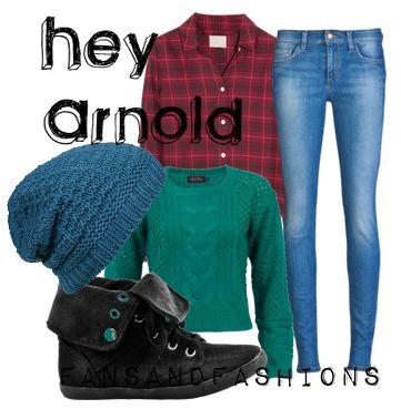 hahahaha Hey Arnold casual cosplay