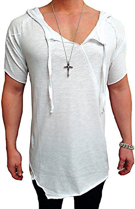 Oversize Shirt Herren Kapuzen Deep Longshirt Swag Sweatshirt NEU skater hip  hop Sweat Jacke Pullover langes ff5c388cfd